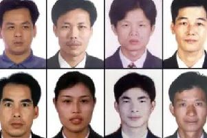 The Chinese cocklers who died in Morecambe Bay. Photo by Lancashire Police.