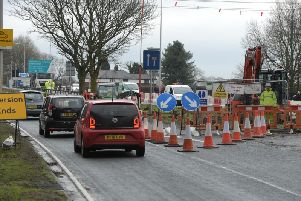 Lane closures are expected to cause disruption on the A59 Liverpool Road between Hutton and Penwortham for the next year.