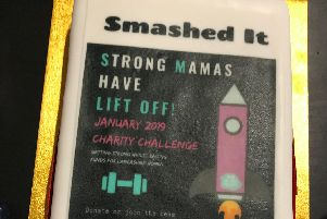 Strong Mamas fitness group, supported by The Body Project, raised 1,858 pounds for Lancashire Women, which has a centre in Lune Street, Preston.