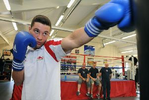 Preston boxer Scott Fitzgerald in 2014