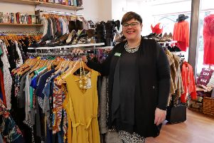 Heather Crabtree, manager of the St Catherine's Hospice fashion boutique in Fulwood