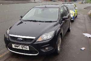 The car was stopped on Ringway in Preston. Photo: Lancs Roads Police
