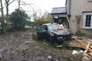 Two men were arrested after fleeing the scene of the crash in Blackpool Road A583 near Kirkham on Wednesday, March 6.