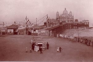 Morecambe Pier pictured in 1914