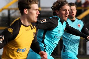 Josh Wilson in action for Chorley