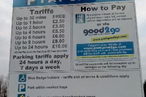 The signs which popped up at the car parks at the hospitals in Preston and Chorley in January