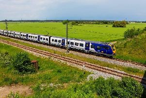 One of the new CAF built trains being tested on UK tracks late last year