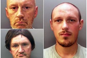 Darran Evesham, 47 (top left) David Osborne, 51 (bottom left) and Ieuan Harley, 23 (right).