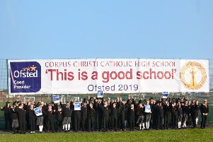 Pupils at Corpus Christi Catholic High School in Fulwood are celebrating being a Good School