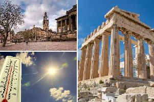 The weather in Preston today is set to be brighter and warmer than of late, reaching temperatures hotter than those in Athens.