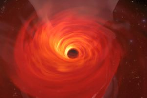Artist impression of the Black Hole in  anticipation of the actual photo