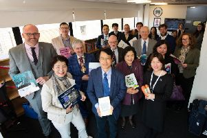 The official opening of the University of Central Lancashires Korea Corner.