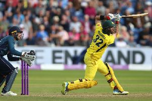 Australia's Glenn Maxwell starred with the ball on his County Championship debut for Lancashire