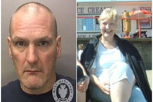 Mentally ill Thomas Westwood (right) who has been ordered to be detained indefinitely at Warwick Crown Court after he killed his mother, Susan Westwood (left), and told police they had argued over the amount of milk in a cup of tea.
