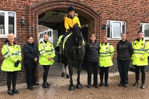 A police horse is to be renamed `Oxberry` in memory of BBC North West presenter Dianne Oxberry who died from ovarian cancer earlier this year.