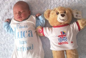 Baby Luca was born the same day as the royal baby and was given a special teddy to commemorate his birth.