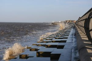 The sea defences on Princes Way in Anchorsholme