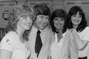Pictured: Mike Yarwood and the Nolans at Blackpool Opera House in 1980