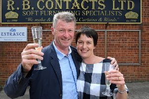 Former owners Robin and Mandy Bamford, who have left RB Contacts Ltd after 30 years with the company now trading under the name Brinscall Interiors