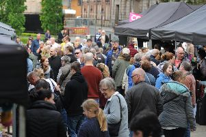 The first ever Makers Market on Preston Flag Market was a big success