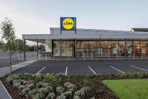An artist's impression of a new Lidl store