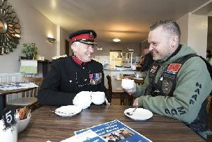 Opening of the Veteran's Cafe at Rococco Coffee Lounge on Chapel Brow in Leyland