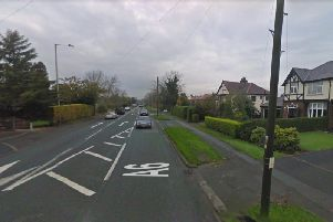 Garstang Road has been closed due to a fire