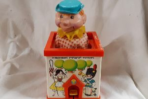 This jolly chap is the classic 1970s Fisher Price Jack in the Box