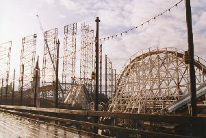 The famous rollercoaster, which originally opened on May 28 1994 as the Pepsi Max Big One, was, at the time, the tallest roller coaster in the world.
