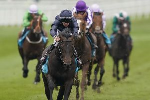 Donnacha O'Brien riding Sir Dragonet  to victory in the Chester Vase Stakes last month but I prefer Broome in the Epsom Derby today (photo: Getty Images)