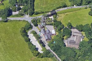 Clayton-le-Woods CE Primary School, centre, in Back Lane with Town Brow Car Park to the north on the other side of Sheep Hill Lane (Google Maps)