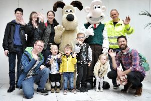 Wallace and Gromit meet fans in Preston