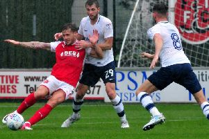 Action from the last time PNE travelled to Fleetwood in July 2017
