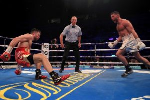 Scott Fitzgerald sends Anthony Fowler to the canvas