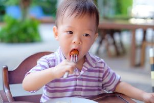 Solid food can be a choking hazard for small children.