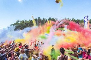 Revellers get in the party mood at Beat-Herder