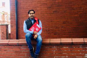 Coun Akhtar on day seven of his 30 days/30 streets challenge