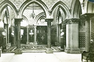 Inside the rntrance to the Town Hall and Guild Hall circa 1939