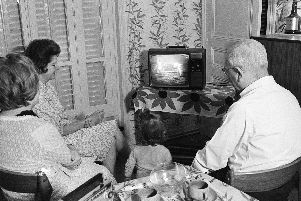 People all around the world gathered around television sets to watch footage of the moon landings