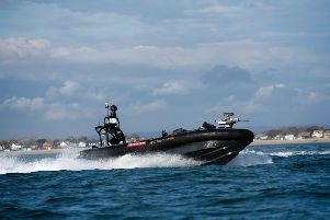 The Pacific 950 Rigid Inflatable Boat being trialled by BAE Systems and the MoD