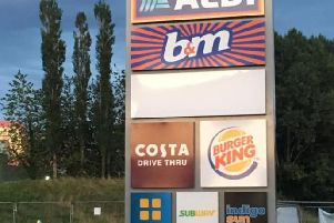 The new Fulwood Central retail park includes an Aldi, B & M, Costa Coffee, Burger King and Greggs stores