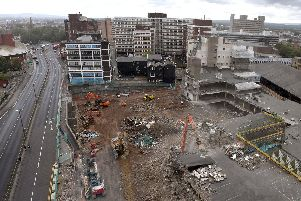 The demolition site in Preston