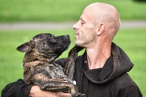 Michael Malloy with his dog Kobi from The Misunderstood Dog Training School