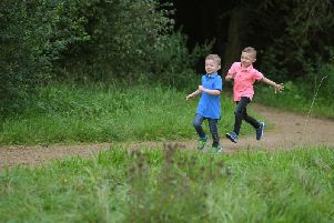 Albie and Leighton Powell, along with their mum Julie, will use the South Ribble Green Link pathway to walk to their dad's house.