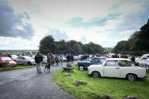Hoghton Tower classic car show.