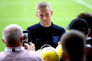 Pickford faces the press at St George's Park