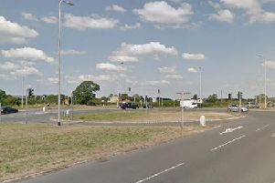 Preston New Road closed at the roundabout junction of the A59 and Preston New Road, opposite the Mercure Preston Samlesbury Hotel (Image: Google)