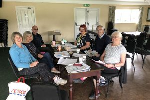 Members of the new West Pennine U3A in Withnell including Ann Furlong (blue top first on left) and Jacqui Owen from the NW regional U3A committee.