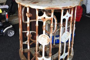 This turnstile - taken from Preston North End's Deepdale stadium - is up for auction