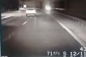 Police spotted a drink driver, who was three times over the limit, weaving between lanes on the M6 near Preston this morning (November 12). Pic: Lancashire Police